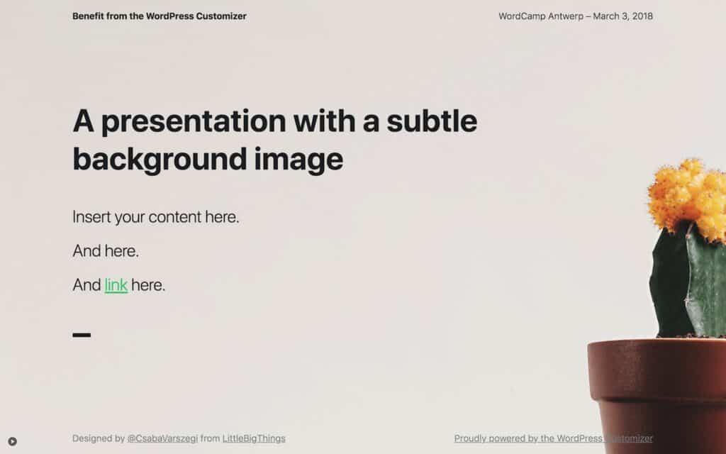 Presentation slide with a subtle background image