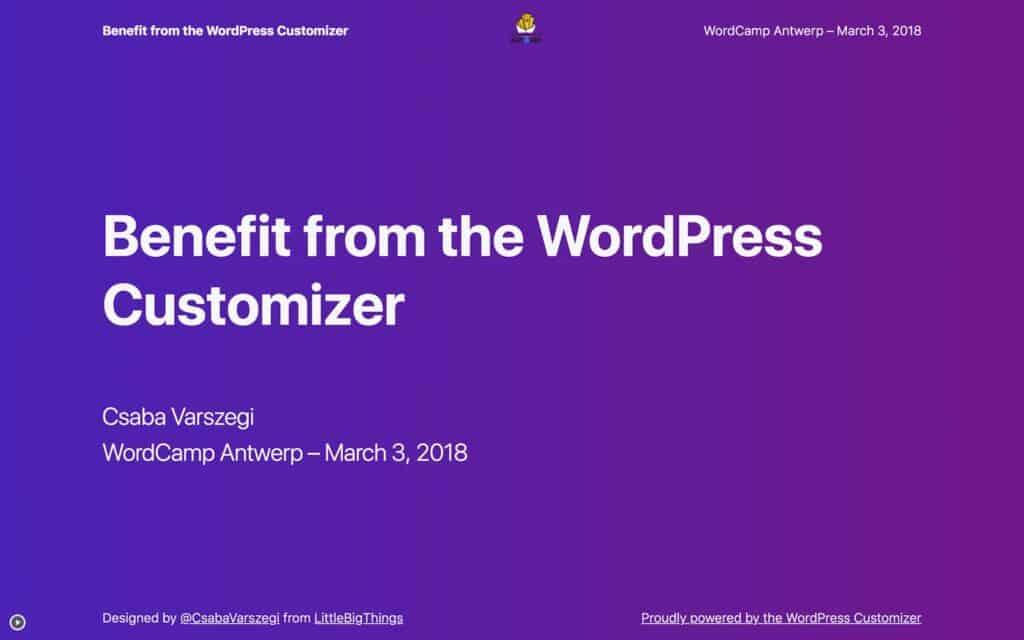 Presentation title slide with a subtle background gradient